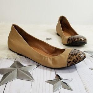 J. Crew Factory Anya leopard toe flats camel 10